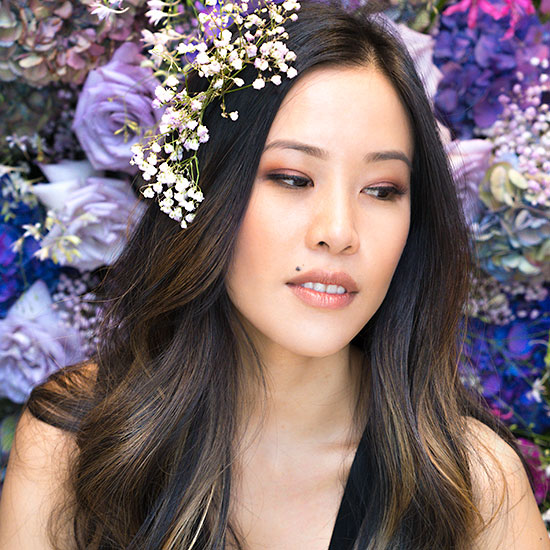 House of Lashes Event with custom Fresh Flower Selfie Wall